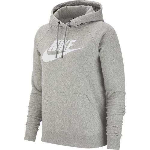 Nike W NSW Essntl Hoodie Po Hbr Sudadera, Mujer, dk Grey Heather/(White), S
