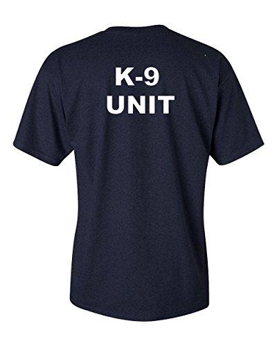 Got-Tee- K-9 Unit Poice Duty K9 T-Shirt- Two Sides Print (XX-Large, Black)