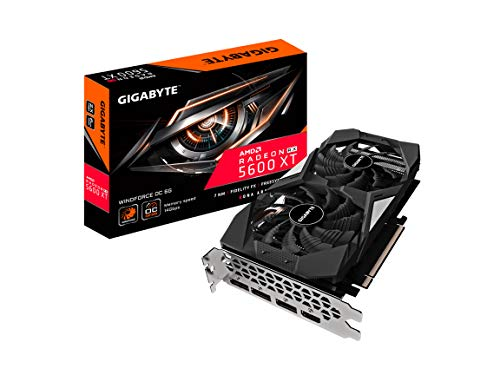 Gigabyte Radeon RX 5600 XT WINDFORCE OC 6G Graphics Card, 3X WINDFORCE Fans, 8GB 192-Bit GDDR6, GV-R56XTWF2OC-6GD REV2.0 Video Card