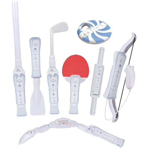 CTA Digital Wii Sports Resort 8-in-1 Sports Pack (White)