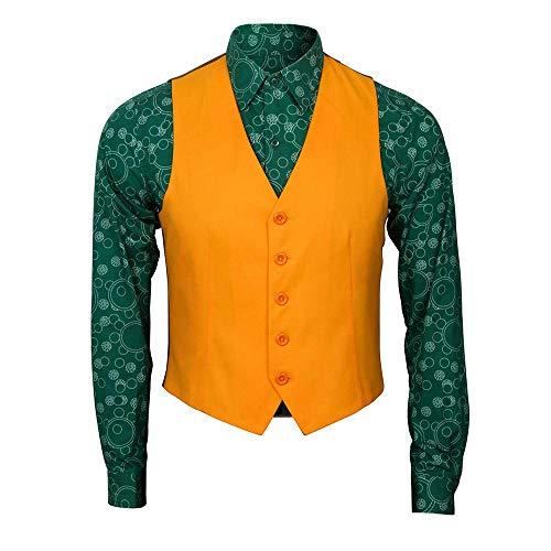 BIRDEU Joker Kostüm 2019 Film Cosplay Outfit Anzug Shirt Weste mit Zubehör für Erwachsene Herren Kleidung 2019 (Shirt+Weste, XL)