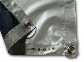 eXsun Roto Sonnenschutz Rollo Dachfenster Verdunkelung Hitzeschutz Thermofix (unbedingt Glasfläche innen ausmessen und vergleichen)! (Roto 07/11 = 52x96cm, blau)