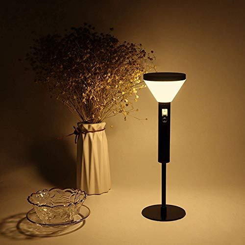 HAITOY Luz Nocturna, Forma de farola, luz cálida LED, batería de Litio incorporada de 1500 mAh, 2 Niveles de Brillo para Dormitorio, Sala de Estar, Carga USB