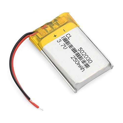Styleart 3,7 V 250 mAh 502030 Lithium-Polymer-Li-Po-Liion-Akku Lipozellen Für MP3-MP4-Lautsprecher Fahrtenschreiber Auto-DVR-Kamera 502030250mAh1pcs