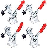 Kniehebelspanner, Linseray 4 Stück 201B Schnellspanner-Set Knebelklemme, Handwerkzeug 90 kg 198lbs Fassungsvermögen, Rutscht Nicht, Horizontal, Knebelklemme