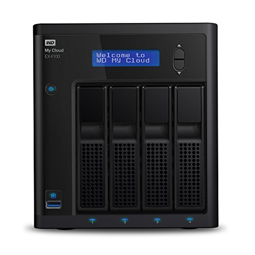 WD Diskless My Cloud EX4100 Expert Series 4-Bay Network Attached Storage - NAS - WDBWZE0000NBK-NESN