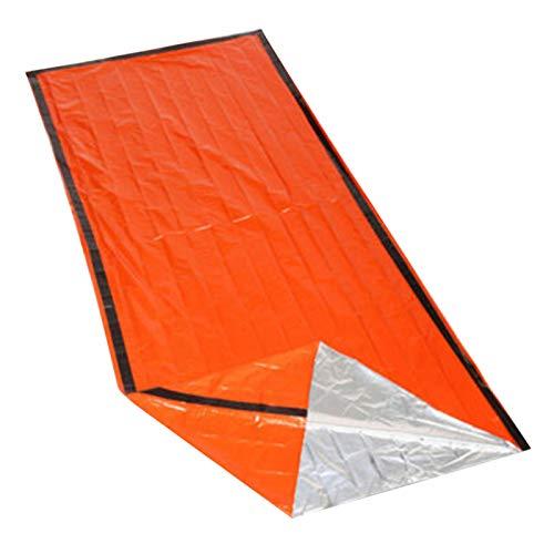 lefeindgdi - Saco de dormir de emergencia, ligera, impermeable, térmica, bolsa de dormir de supervivencia, película de aluminio PE, manta de emergencia para acampar al aire libre y senderismo