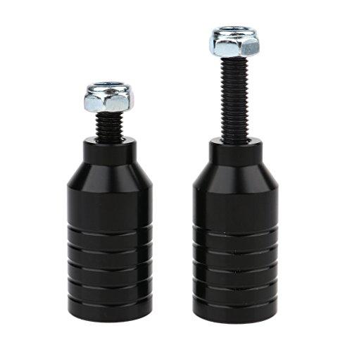 CUTICATE 2 x Scooter Hardware Roller Pegs - Schwarz