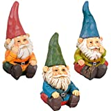Gnome - Garden Decor (3 Piece) Mystical Gnomes Will Give Personality to Your Space - Gnomes Figurines - Garden Gnome Outdoor