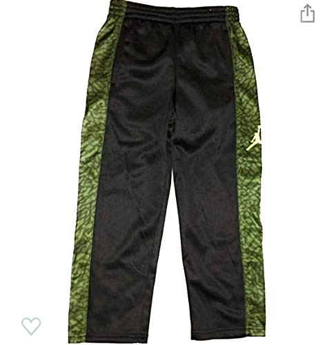Nike Air Jordan Sweatpants Fleece Polyester Grey Size 7, Gray