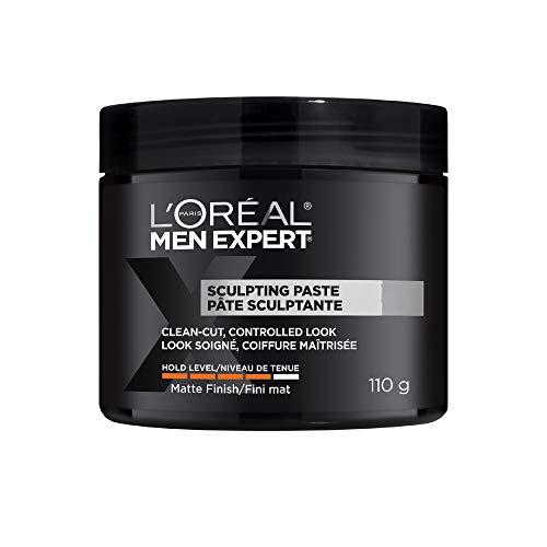 L'Oreal Paris Men Expert Sculpting Paste, Hair Pomade For Men, Strong Hold, 110 G