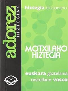 Motxilako hiztegia=Diccionario de mochila