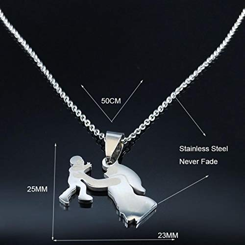 Stainless Steel Chain Necklace Silver Color Necklaces Pendants Jewelry Mother's Day