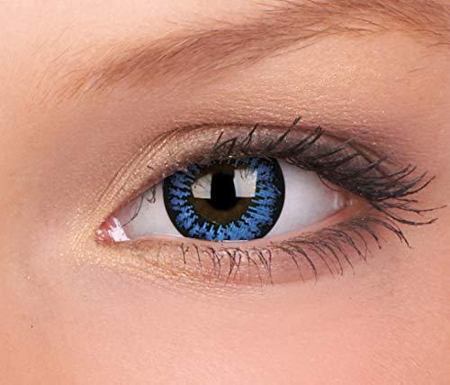 Farbige Kontaktlinse BigEyes Cooles Blau 3 Monate Einweg 15 mm von ColourVUE (0.00, 8.60, 14.00, 2.00)