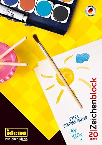 Idena 10387 - Zeichenblock, DIN A4, 20 Blatt, 120 g/m², 1 Stück