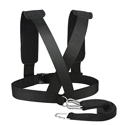 Sled Harness for Pulling Strap Vest Fitness Men Resistance Training Equipment Shoulder Strap Bearing Resistance Band (Black)