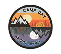 ステッカー Vintage Outdoor Budges CAMP DAY CAMP NIGHT