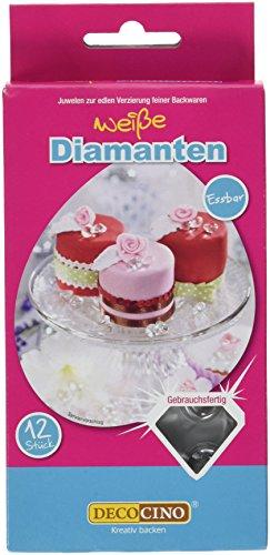 Dekoback Essbare Diamanten weiß, 2er Pack (2 x 12 g)