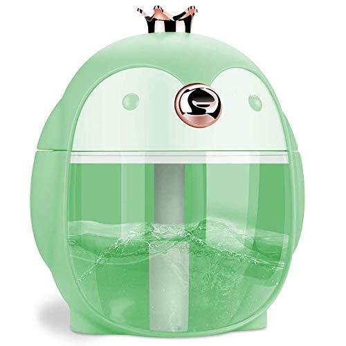 Slaapkamer Mini USB Pinguïn Etherische Olie Ultrasone Aroma Diffuser Met 7 Kleur LED Lichten, Gratis Koude Mist Luchtbevochtiger, Automatische Shutdown, Mute, Is Het Beste Geschenk Voor Kinderen, Gezin, Slaapkamer, Kantoor, P Groen