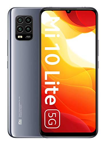 Xiaomi Mi 10 Lite 5G Smartphone, 6 GB + 128 GB, 6.57'', AMOLED, 48 MP Quad-Camera, 4160mAh, Grigio (Cosmic Grey)