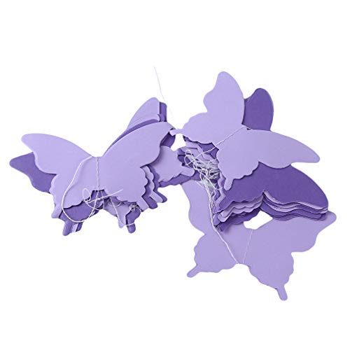 unknow Ifdayy Hawaiian Garland Banner Butterfly Banner for Hawaiian Themed Party Supplies,Purple