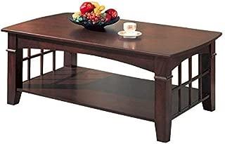 Coaster Home Furnishings Abernathy Rectangular Coffee Table with Shelf Merlot