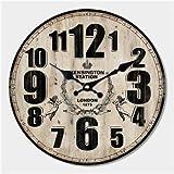 Reloj de Pared con diseño Moderno y silencioso para salón, decoración de Pared, decoración de casa, Reloj de Pared, Contemporáneo, 12646, Diameter 16inch