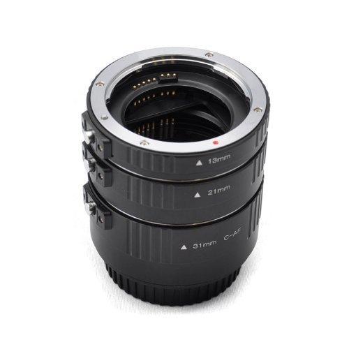 Tubo de extensión automático Macro (aluminio) para Canon - tres tubos pieza - 13mm, 21mm, 31mm para Canon EOS 1000D 1100D 600D 550D 500D 450D 400D 350D 300D 60D 50D 40D 30D 20D 10D 7D 5D 5D Mk II 1D 1Ds 1D Mk II 1Ds Mk II 1D Mk II N 1D Mk III 1Ds Mk III etc.