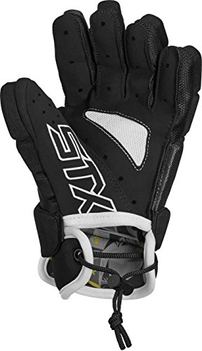 STX Lacrosse Stallion 50 Youth Gloves, Black, Small