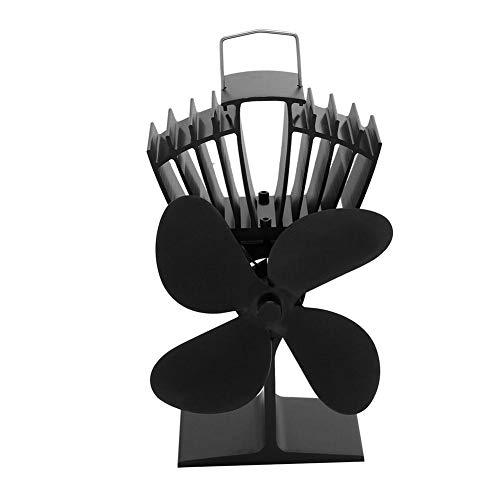 Ventilador de chimenea de 2 páginas, ventilador de estufa, ventilador de refrigerador de estufa resistente al desgaste protector de sobrecalentamiento, ventilador de estufa ambiental para mayor