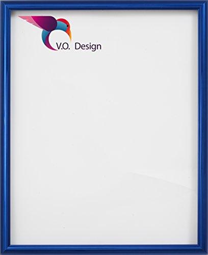 Vogel Design Bilderrahmen München - Blau 60x80cm 80x60cm hier mit entspiegeltem Kunstglas