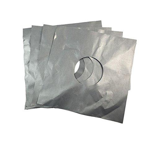 4PCS Reusable Silber Gasherd Schutzgasherd Liner Stove Top Schützer