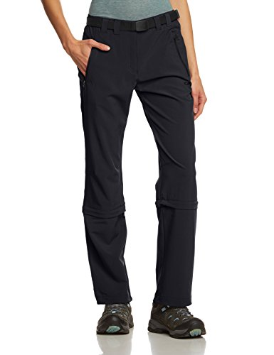 CMP Damen Hose Zip Off, antracite, D40, 3T51346