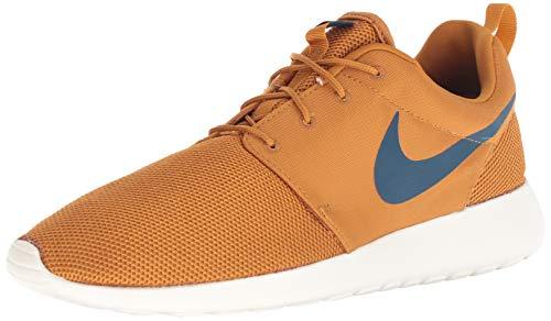 Nike Men's Roshe Running Shoe (10 M US, Desert Ochre/Blue Force-sail)