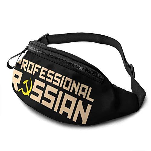 NHCY Tasca con cinghie regolabili per marsupio professionale russo con jack per cuffie per uomo e donna