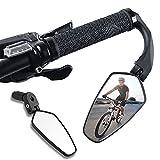 XIQI Rückspiegel Fahrrad [1 Stück], 360°Drehbar Fahrradspiegel, HD/Schlagfest Lenkerendenspiegel Fahrrad, Fahrrad Spiegel Klein für Lenker 16-22 mm, Fahrrad Rückspiegel Passend für MTB Rennräder