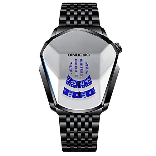RORIOS Moda Hombre Relojes Analógico Cuarzo Reloj de Acero Inoxidable Deportivo Relojes de Pulsera Casual Impermeable Relojes Hombre