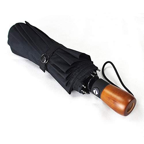 NJSDDB paraplu Grote Wind Kwaliteit Bestand Paraplu Regen Vrouwen Automatische Brede Winddichte Golf Business Mannen Voor Auto Paraplu, Zwart