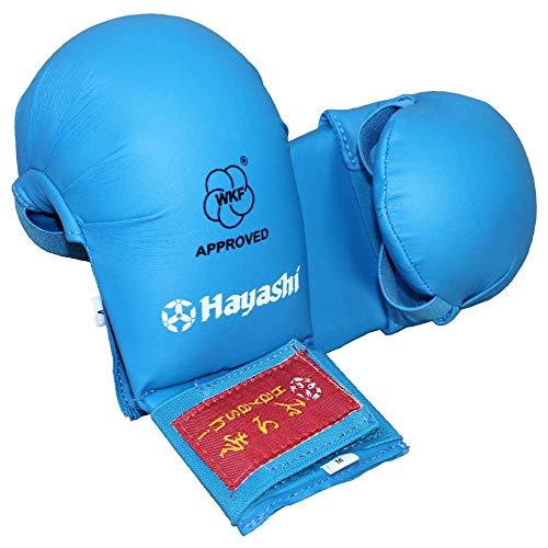 """Hayashi Karate Faustschützer """"TSUKI"""" WKF Approved Handschützer (blau, S)"""