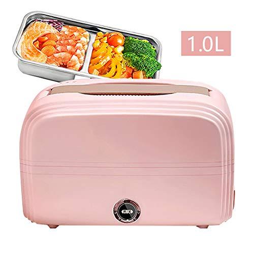 DROB 2 Schicht stapelbar Elektrische Isolierte Lunchbox,Speisenwärmer Warmhaltebox,Edelstahl Bento Box für Adulti,Büro