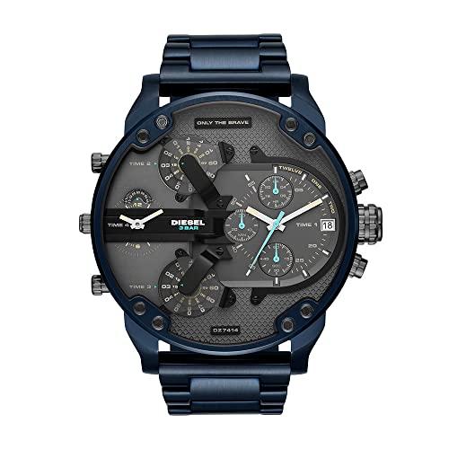 Diesel Reloj Cronógrafo para Hombre de Cuarzo con Correa en Acero Inoxidable DZ7414