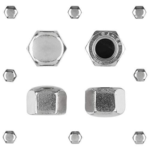 Hutmuttern Sechskant M10 niedrige Form DIN 917 Edelstahlmuttern A2 V2A Sechskantmuttern Kappenmuttern M10 10 Stück