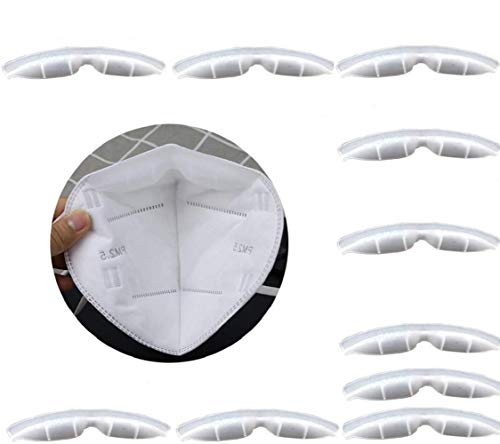 10 Pieces Anti Fog Nose Bridge Pads for Mask, Anti-Fog Sheet, Silicone Self-Adhesive Protection Strip Seal Soft Comfortable