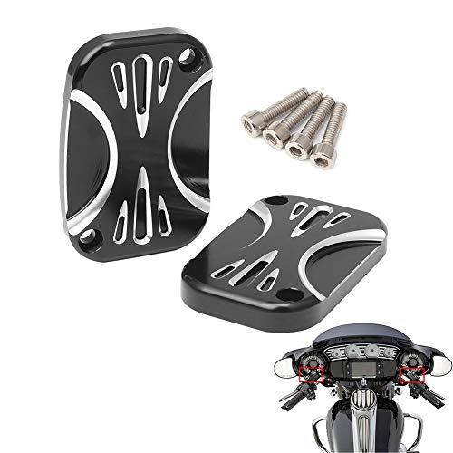 AQIMY Brake Master Cylinder Cover for Harley Touring Road King Street Glide Electra Glide V-Rod 2008-2017