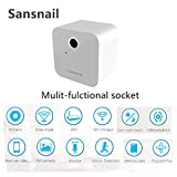 Mini Security Camera Sansnail HD 1080P WiFi Home Surveillance Camera Wall Charger Multi-Functional Socket Night Vision Motion Detection Remote Video Monitor Compatible with iOS and Andorid(White)