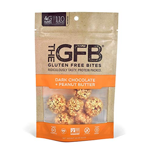 The GFB Gluten Free Protein Bites, Dark Chocolate Peanut Butter, 4 Ounce (6 Count), Vegan, Dairy Free, Non GMO, Soy Free