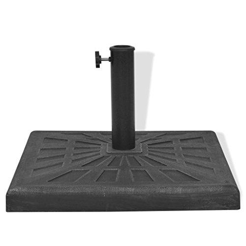 Festnight Base de Parasol Carrée Résine Noir 19 kg