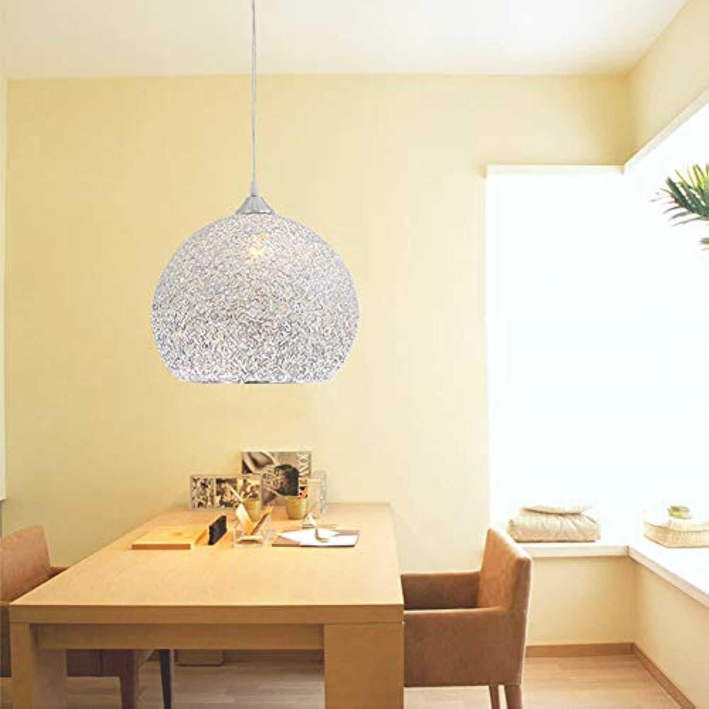 CUICANH Moderner Led Pendelleuchten,Einkopf Aluminiumdraht Handarbeit Gewebt Nest Hngeleuchte Restaurant Schlafzimmer Lampen-20CM Durchmesser20cm(8inch)