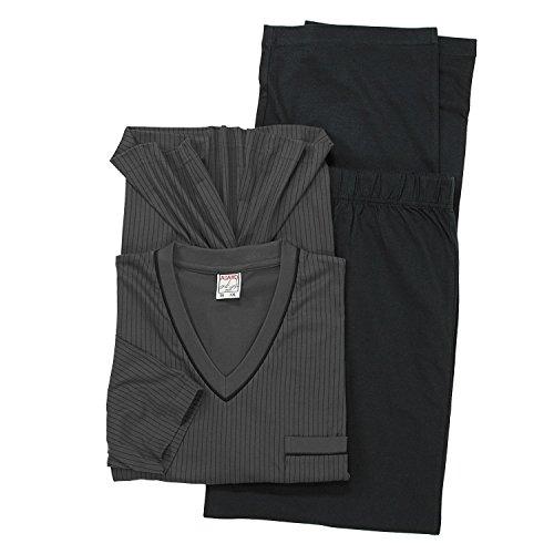 ADAMO Kurzarm Schlafanzug in dunkelgrau der Firma großen Größen bis 10XL, Größe:6XL