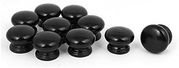 DealMux Início gaveta do armário 33mmx25mm Madeira Houten Trekknop Grab Handvat 10st Zwart